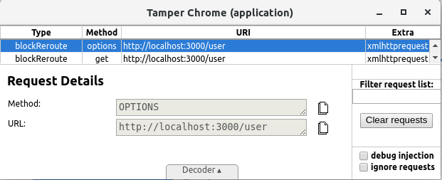 Tampering with Tamper Chrome